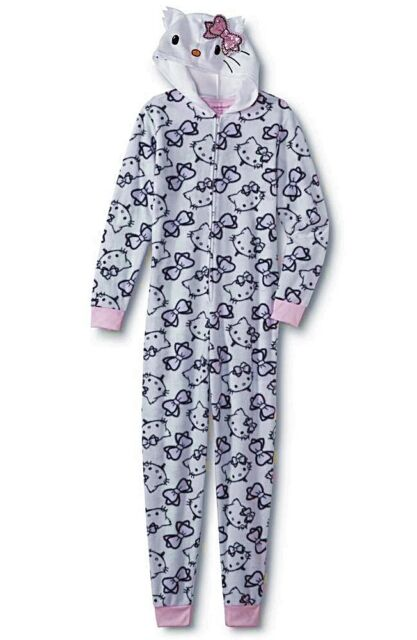 35b726390 NEW Hello Kitty Pajamas Womens Size MEDIUM LARGE XL/1X Plus One Piece Union  Suit