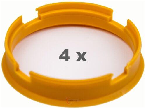4 Piezas Anillas de centrado 72.6 mm a 66.45 mm pastellorange//naranja