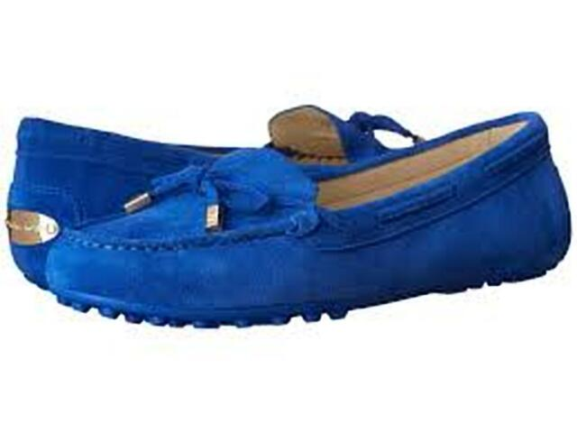 19af904a3424 Michael Kors Daisy Moccasin Loafer Flats Electric Blue Suede Women s ...