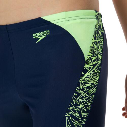 Speedo Boom Splice Boys Jammer Swimming Shorts Navy//Bright Zest