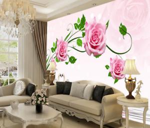 3D Swans Pink pinks 77 Wall Paper Murals Wall Print Wall Wallpaper Mural AU Kyra