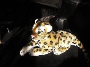 Adorable En Fourrure Synthétique Douce Peluche En Peluche Leopard Cub Play By Play Très Bon état-afficher Le Titre D'origine