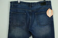 Mens DKNY Jeans BOWERY W 34 L 32 STRAIGHT Zip Fly CASUAL FRAY DENIM EXCELLENT P7