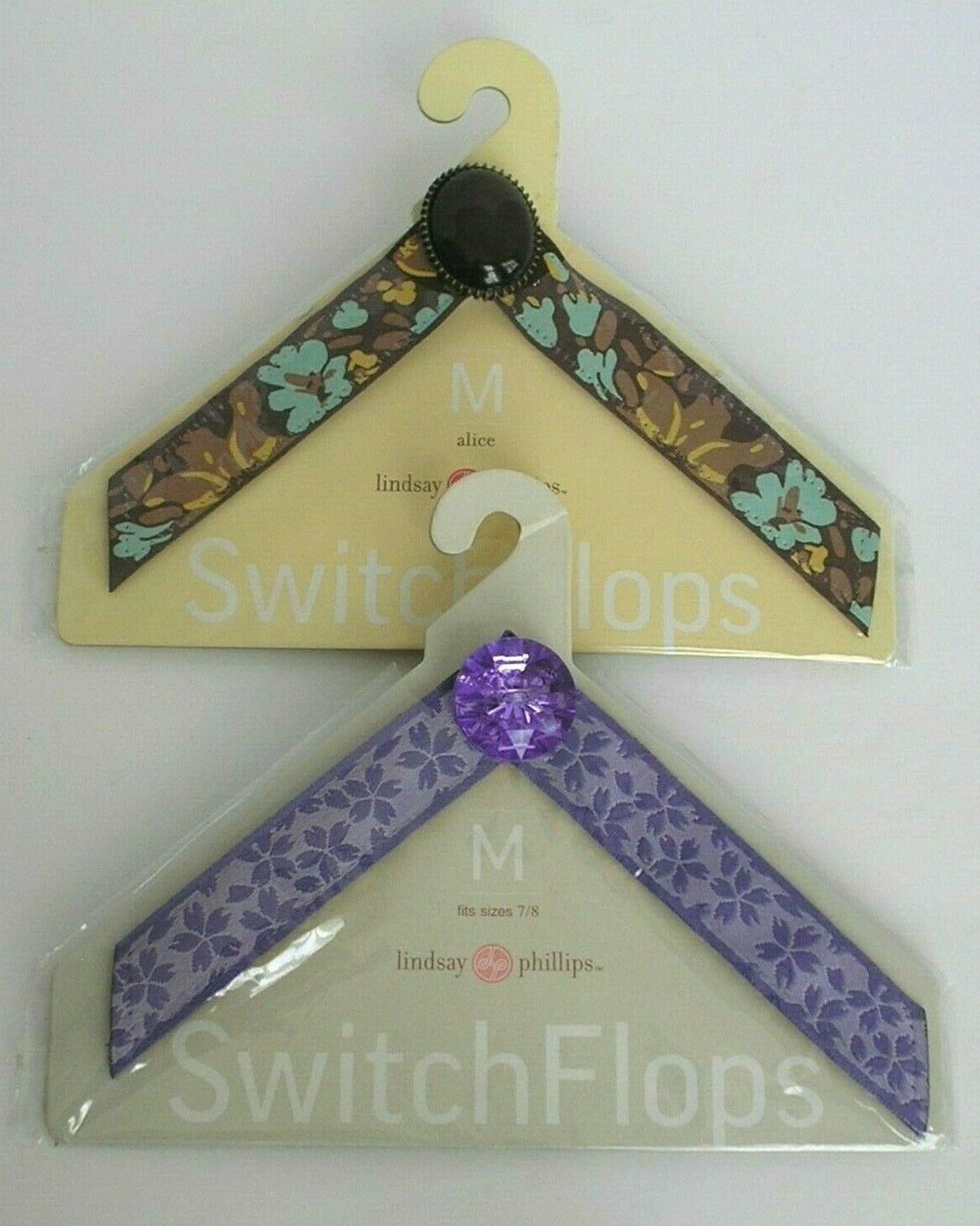 TWO SETS of LINDSAY PHILLIPS SWITCH FLOPS STRAPS - CORA & ALICE - BRAND NEW