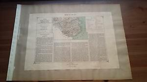 1883 Valverde y Alvarez, Mapa de la Provincia de Gerona Cataluña (Map Spain)