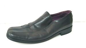 Julius-Marlow-Ronaldo-Mens-Black-Leather-Slip-on-Casual-Dress-Shoes-Size-12