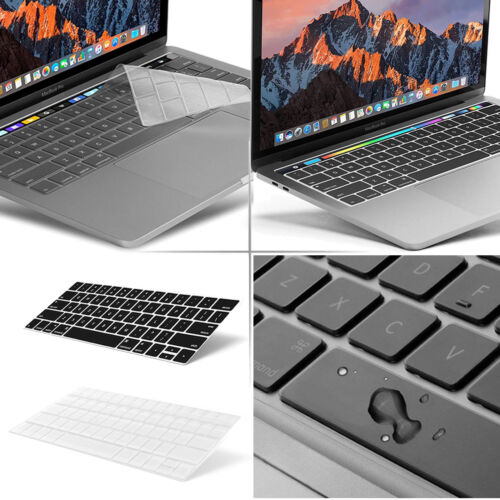"2-PK Keyboard Cover MacBook Pro 13"" 15"" Touch Bar 2016 2017 2018 Protector Guard"