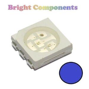 UK 10 x 0402 Blue LED SMD 1st CLASS POST - Ultra Bright