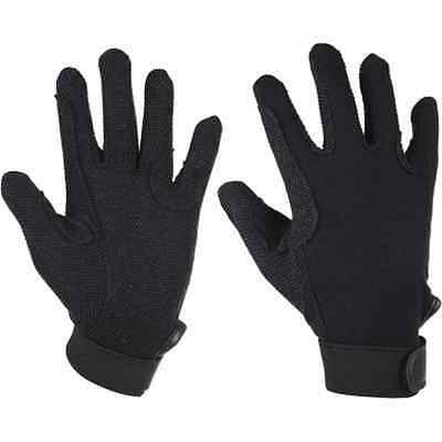 FREE POSTAGE Elico Cotton Pimple Palm Riding Gloves Large Navy Adult