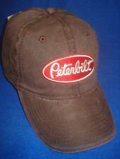PETERBILT HAT :        WORN BROWN  TRUCKER'S CAP     *FREE SHIPPING IN U.S.A. *