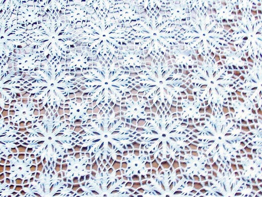 RIDEAU  PANNEAU CROCHET CROCHET PANNEAU D'ART FAIT MAIN ARTISANAT FRANCAIS  blanc SUPER PROMO 8d489d