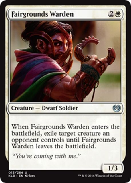MTG Magic - (U) Kaladesh - 4x Fairgrounds Warden x4 - NM/M