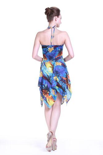 Couple Matching Shirt Dress Outfit Hawaiian Cruise Luau Dance Sunset Blue Gypsy