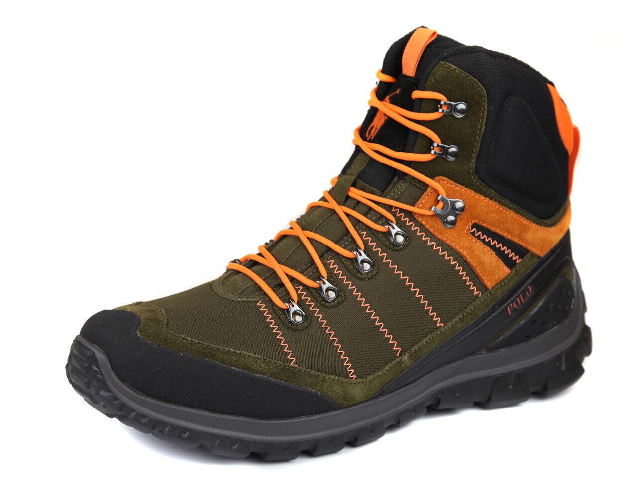 Polo Ralph Lauren para hombre Oliva Naranja S Con Cordones Zapatos Bota Ret  Nuevo