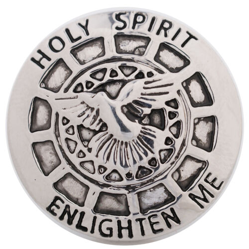 SNAP IN BUTTON CHARM FITS GINGER SNAPS STYLE JEWELRY HOLY SPIRIT #229 RELIGIOUS