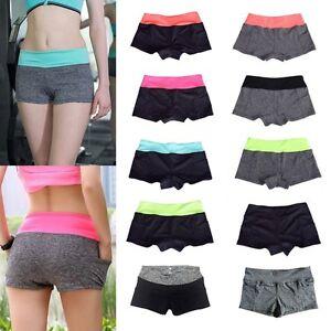 Women-Sports-Yoga-Fitness-Shorts-Gym-Workout-Jogging-Waistband-Pants-Stretch