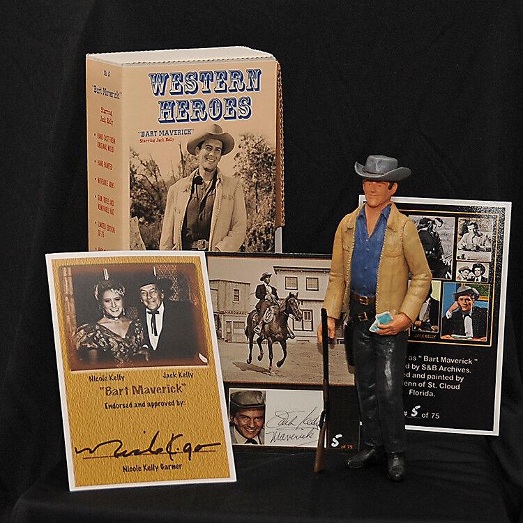 BART MAVERICK ..Jack Kelly Ltd. Edition Figure  12..Hartland Western Collectors