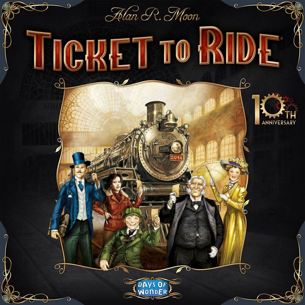 Ticket para montar: 10th Anniversary [juego de mesa, trenes y viajes, 2-5 jugadores] NUEVO