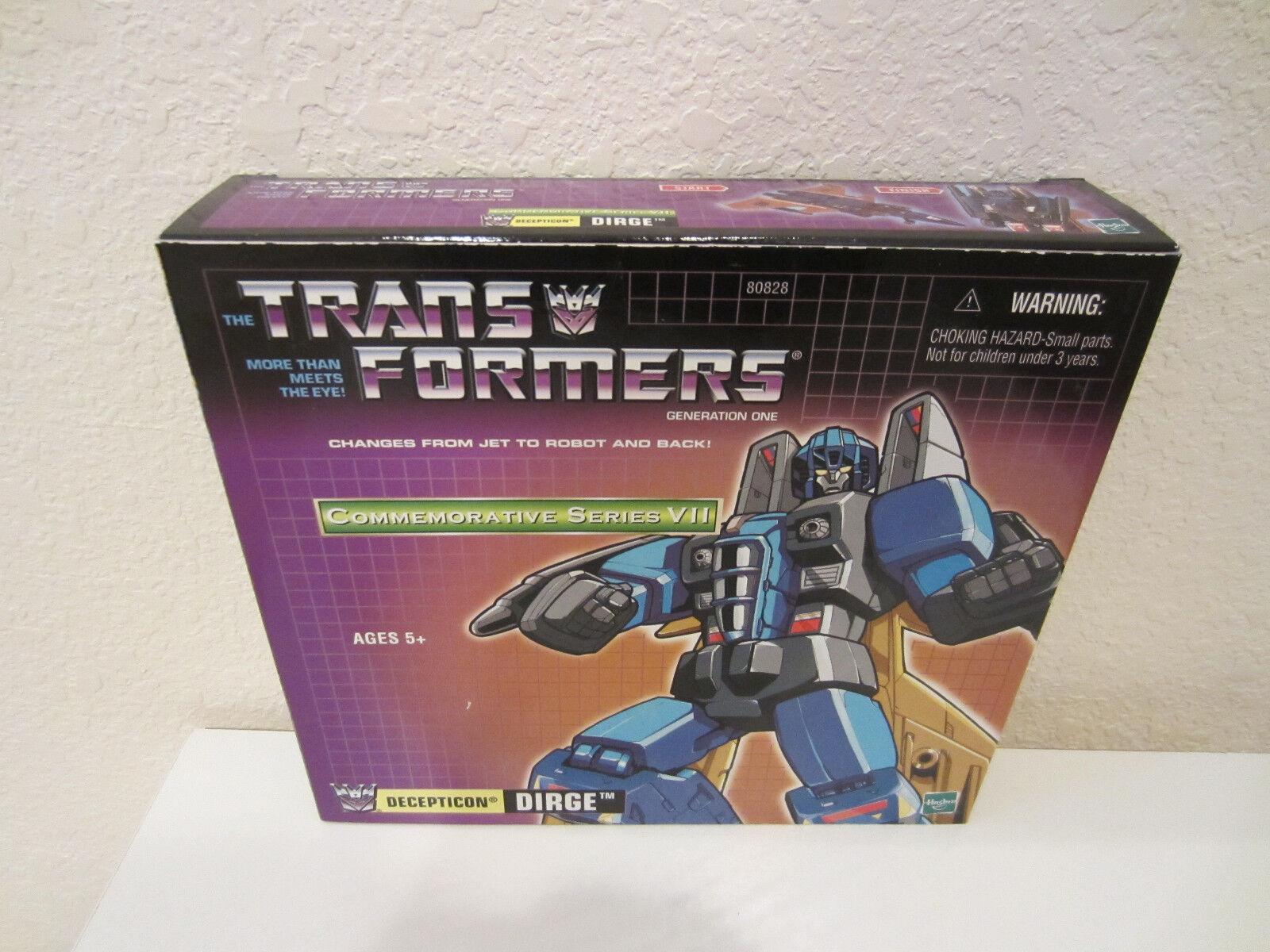 Acción Transformers G1 F Tru Conmemorativa serie VII Decepticon fúnebre 2003 sin usar y en caja sellada