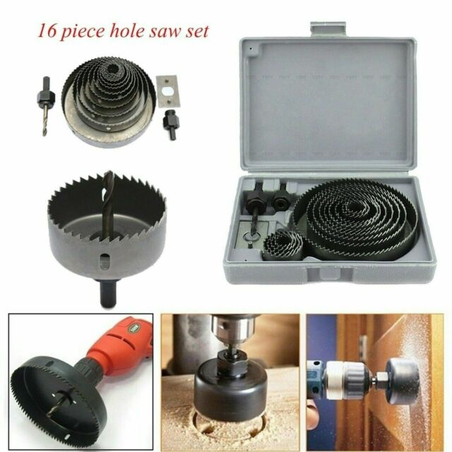 HOLE SAW KITS HOLE CUTTER SET PLUMBERS KITCHENS FITTERS WOOD CUTTER TOOLS