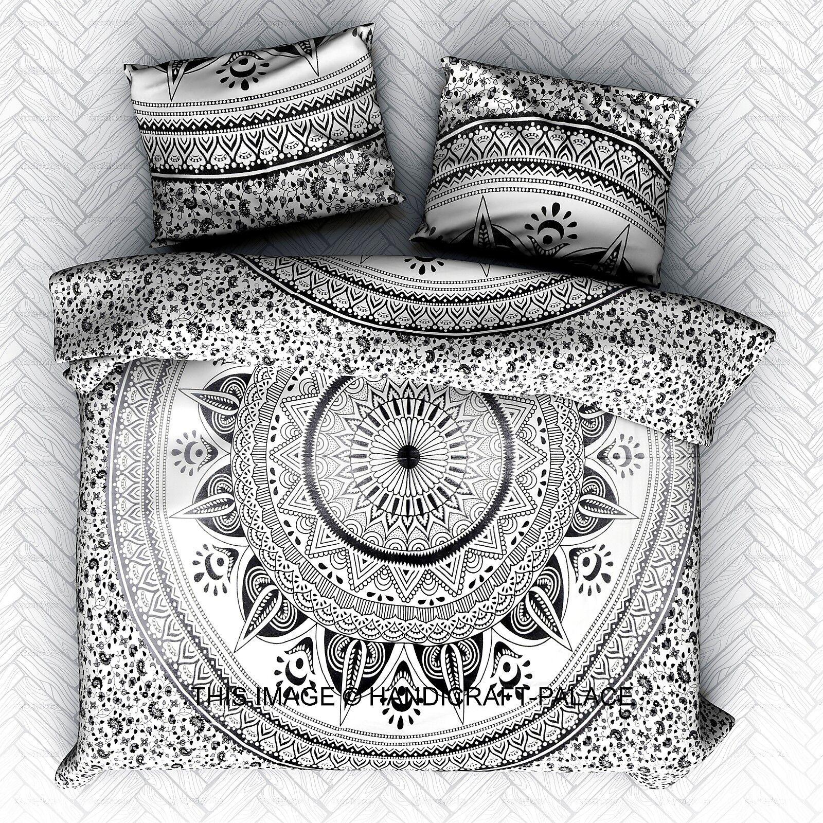 Indian Bed Sheet Bedding Set Hippie Ombre Mandala Tapestry Queen Blanket Throw