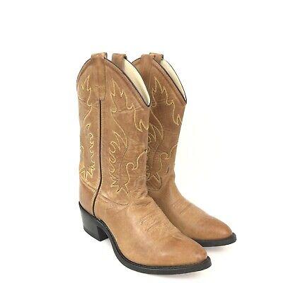 Silver Canyon Kids Children Western Cowboy Boots Round Toe Brown Black
