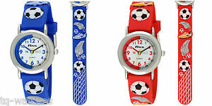 Ravel-Time-Teacher-Watch-with-3D-Silicone-Football-Strap-Red-or-Blue-Kids-Boys