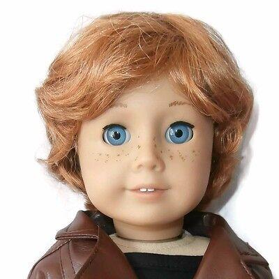 """Custom Boy Doll Wig 10-11"""" Red Ginger - Fits Logan"""