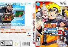 Naruto Shippuden Clash of Ninja Revolution III Nintendo Wii COMPLETE CIB LikeNew