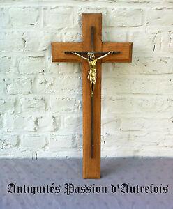 B20151862 - Grand Crucifix De 57,5 Cm En Régule Et Chêne Exquis (En) Finition