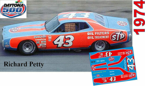 CD/_DC-1974  #43 Richard Petty  STP 1974 Plymouth  1:24 Scale DECALS