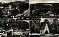 Bad Gandersheim Harz s/w Mehrbild AK 1967 gelaufen Brunnenhaus Osterbergsee u.a.