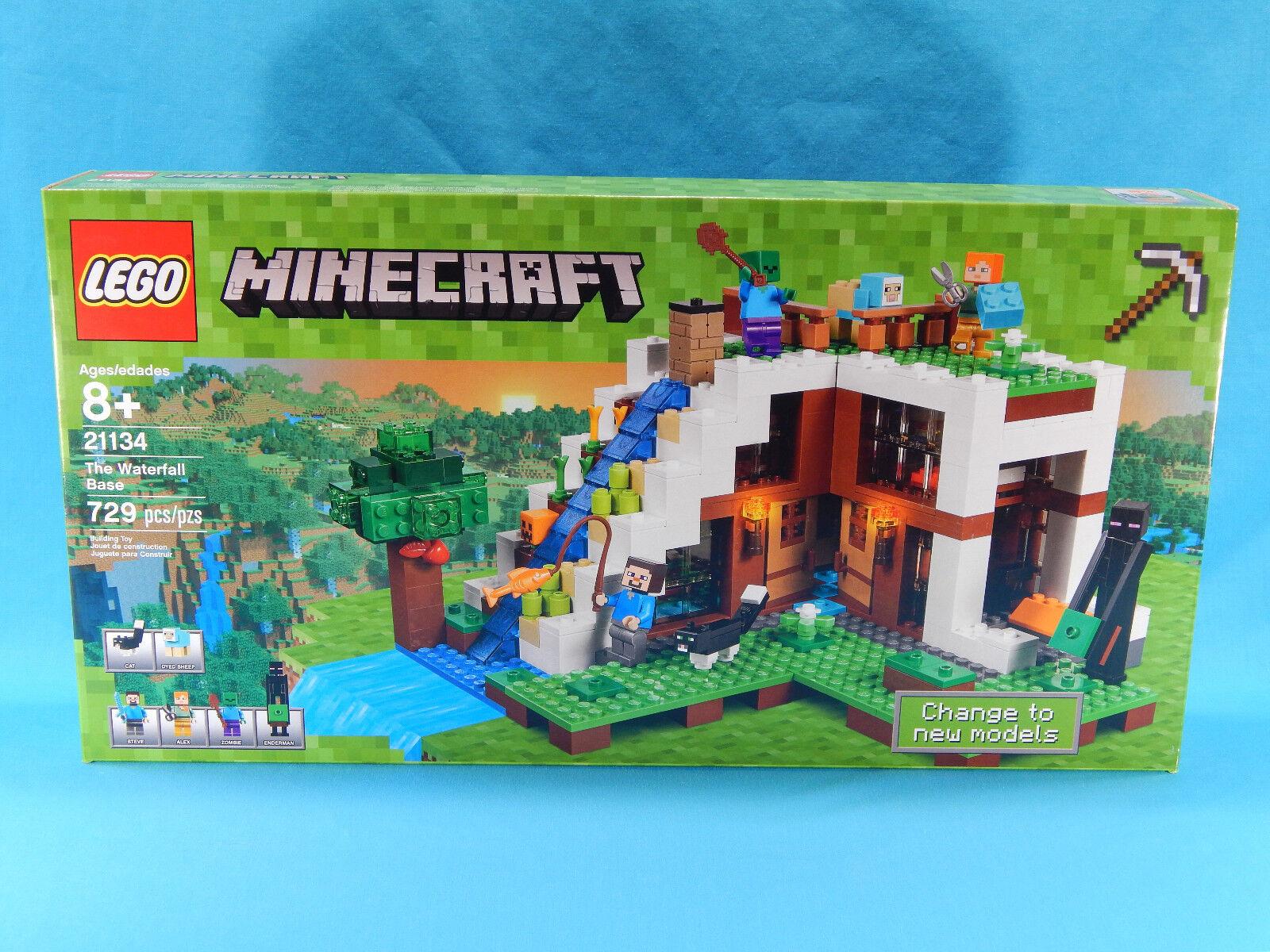 Lego Minecraft 21134 The Waterfall Base 729pcs New Sealed 2017