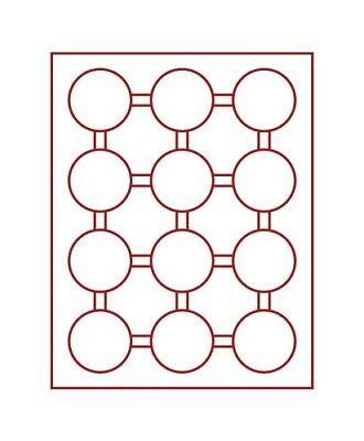 Gedisciplineerd Lindner 2212 Coin Box-gray / Red Insert
