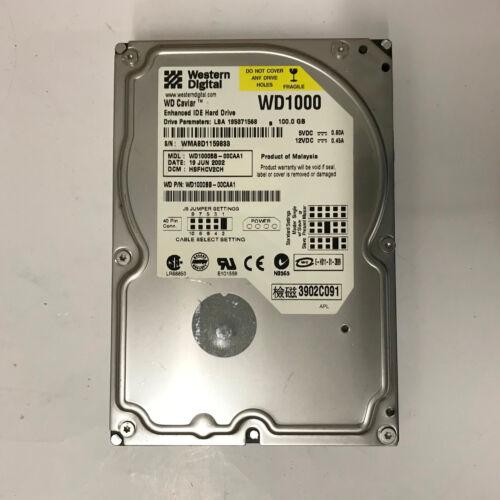 """Western Digital Caviar WD1000BB-00CAA1//0  100 GB IDE 3.5/"""" Hard Drive"""