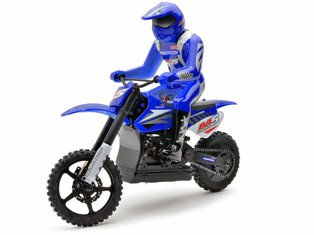 RADIO CONTROLLED MOTOCROSS BIKE ANDERSON M5 - Blau