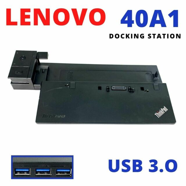 Lenovo Type 40A1 ThinkPad Pro Docking Station USB 3.0 Port Replicator 40A10090US