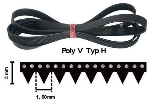 1920 h8 EL POLY-V Courroie Courroie Trapézoïdale 1920h8el rippenband