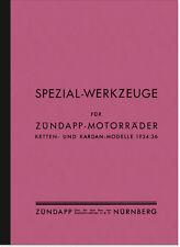 Zündapp Anleitung Liste Spezial-Werkzeuge 200 350 500 800 K KS DB DE Derby DK DL