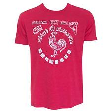 SRIRACHA HOT CHILI SAUCE T-Shirt Rooster Foodie Hot Dog Eating Contest S-6XL Tee