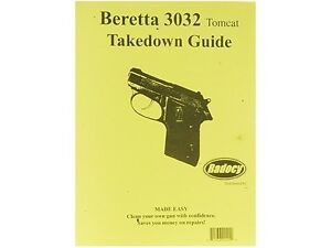 Details about Beretta Tomcat 3032 Pistols Takedown Disassembly Assembly  Guide Radocy