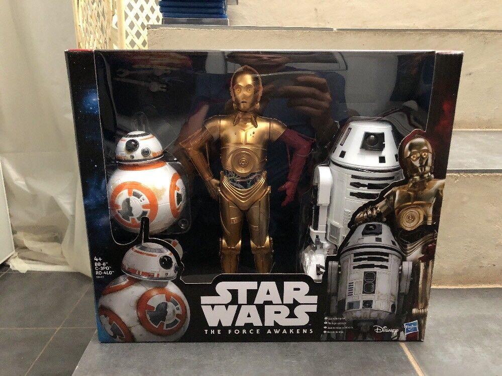STAR WARS Force Awakens Lot 3 Big Action Figures Exclusivité Carrefour Boxset
