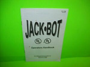 Jackbot-Pinball-Machine-Mini-Handbook-Williams-Original-1995-Game-Booklet
