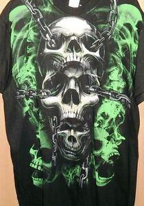 Nwt Hybrid Green Skull In Chains Ufc Mma Tattoo L Large Xl Mens T