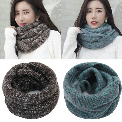 Ladies Faux Fur Snood Loop Scarf Winter Scarf Shawl Cable Knitt Snood CLEARANCE