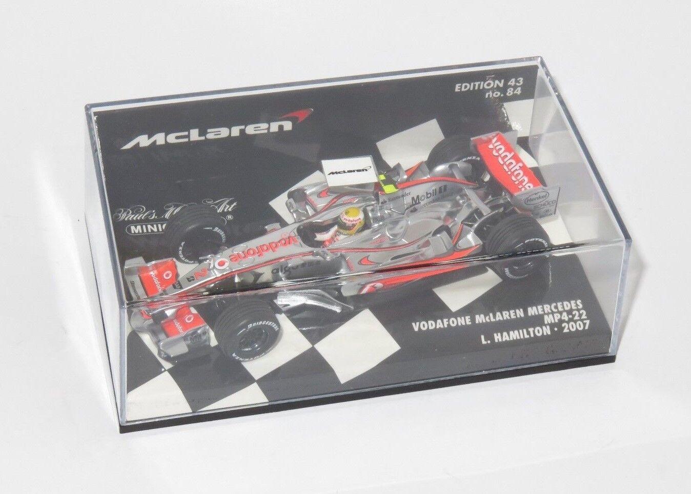 1 43 Vodafone McLaren Mercedes MP4-22  2007 Season  Lewis Hamilton