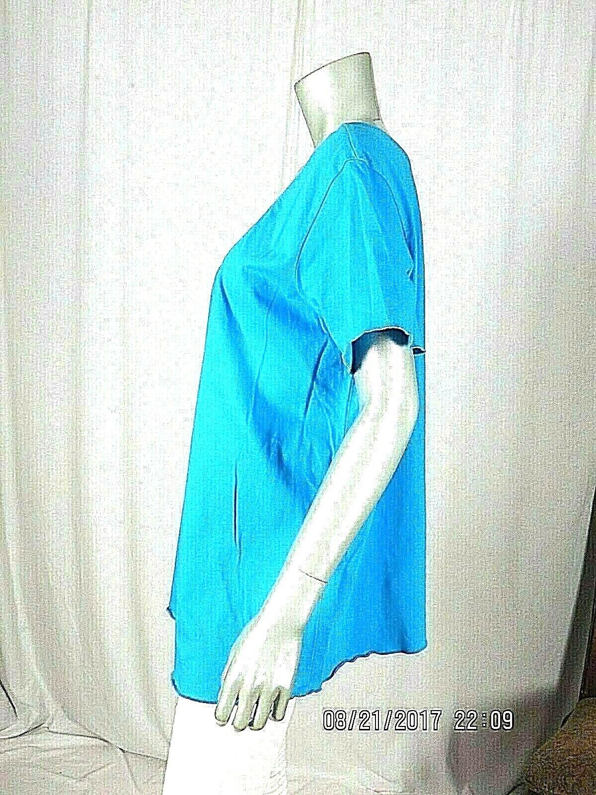 VENEZIA VITALE SZ L 100% Cotton Turquoise Blue Ru… - image 6