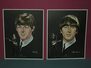 The-Beatles-1960s-Volpe-Color-Prints-Posters-Set-Of-4-FAB-VINTAGE-OLD-STOCK-SEE