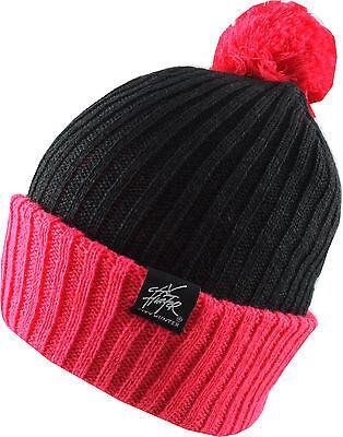 Tom Franks Mens Chunky Knit Acrylic Bobble Hat