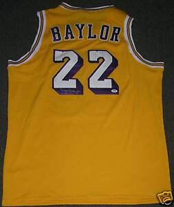 3c9c3516d68 Image is loading Elgin-Baylor-Signed-Los-Angeles-Lakers-Basketball-Jersey-